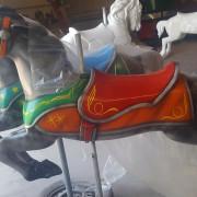 1951-Allan-Herschell-carousel-horse-newly-restored
