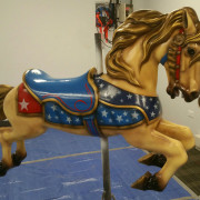 1951-Allan-Herschell-carousel-horse-newly-restored3