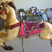 1951-Allan-Herschell-carousel-horse-newly-restored4