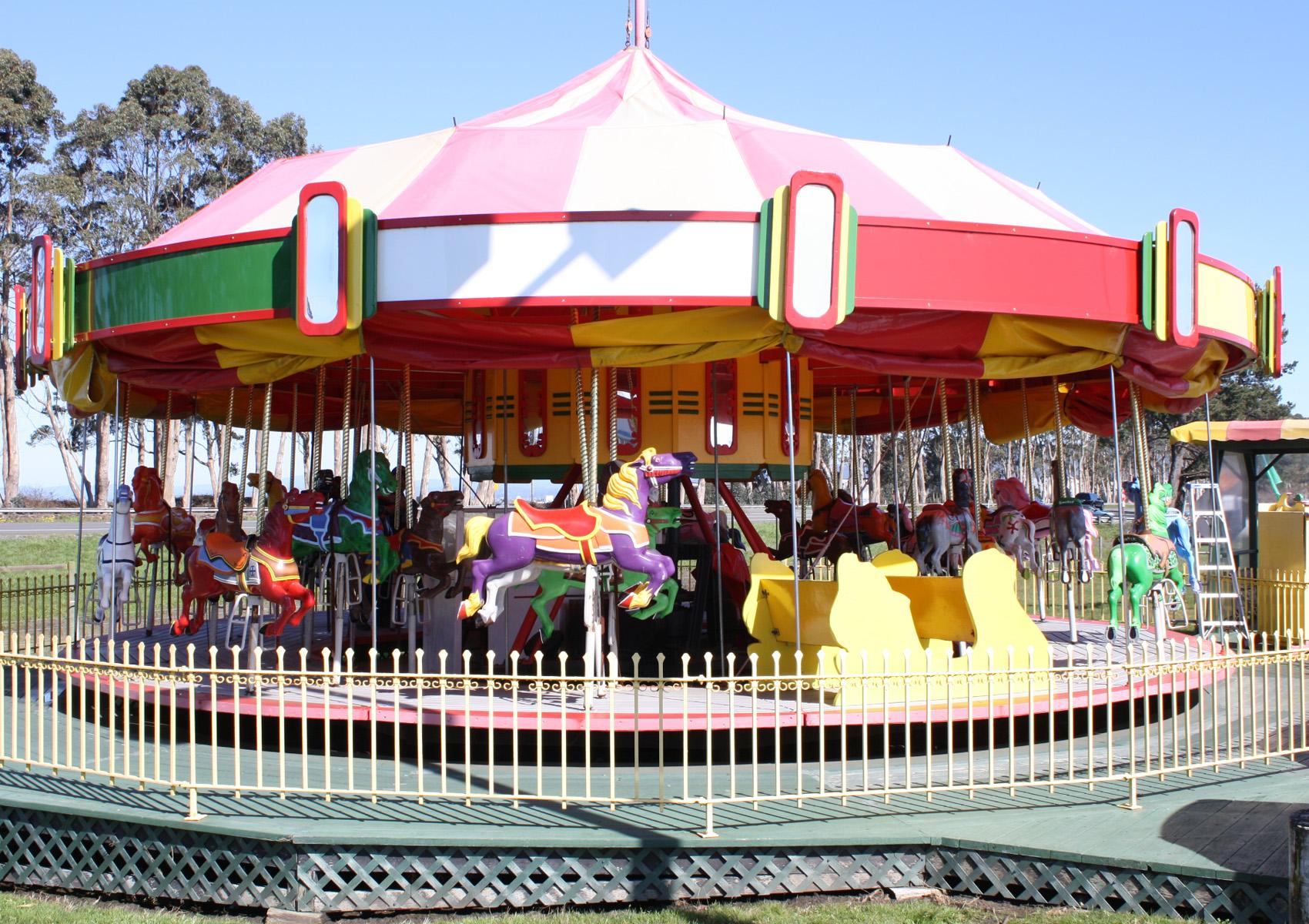 Vintage 1947 Allan Herschell Carousel Antiquecarousels Com