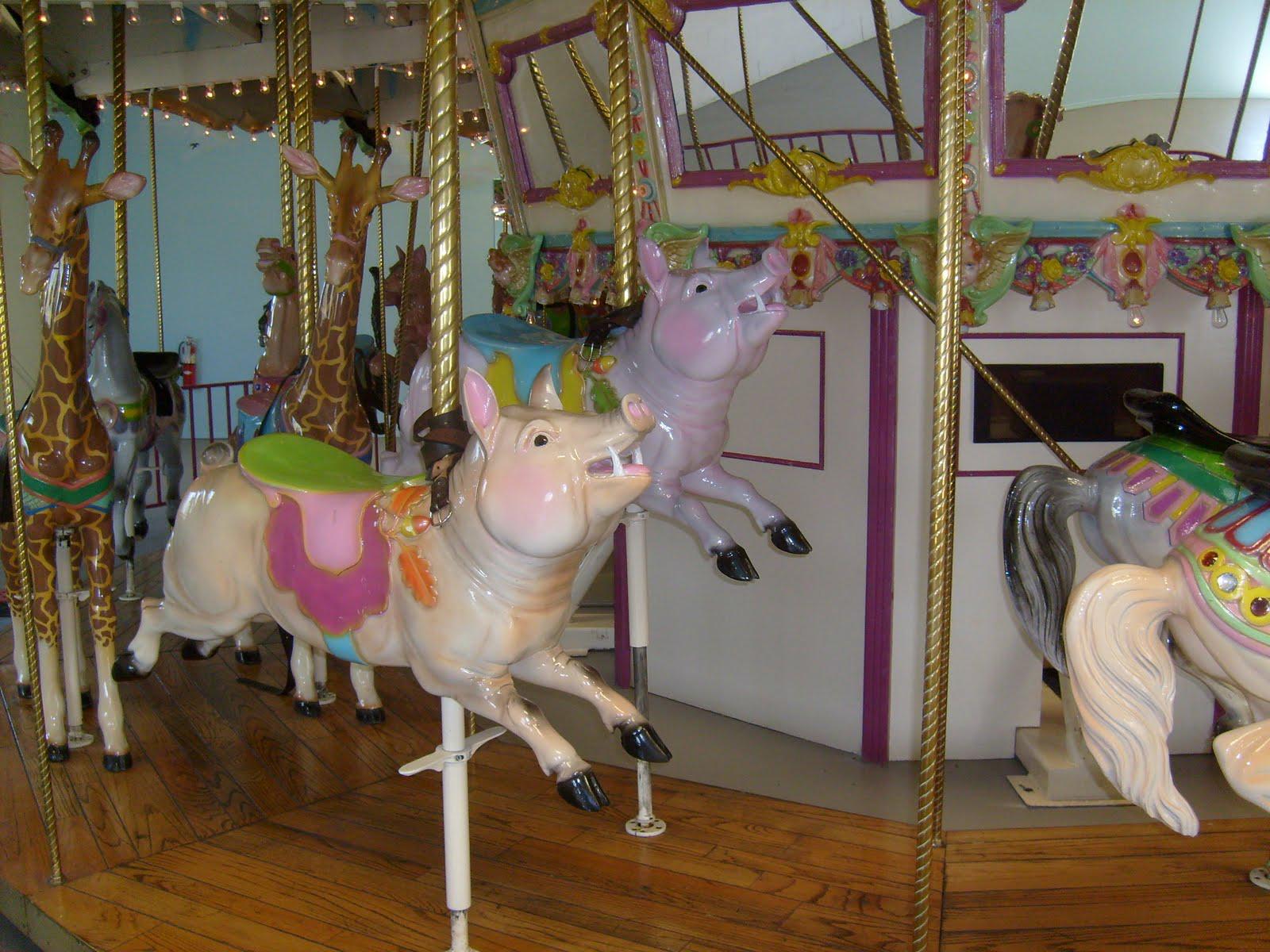 Barrango 2 Row Menagerie Carousel Antiquecarousels Com