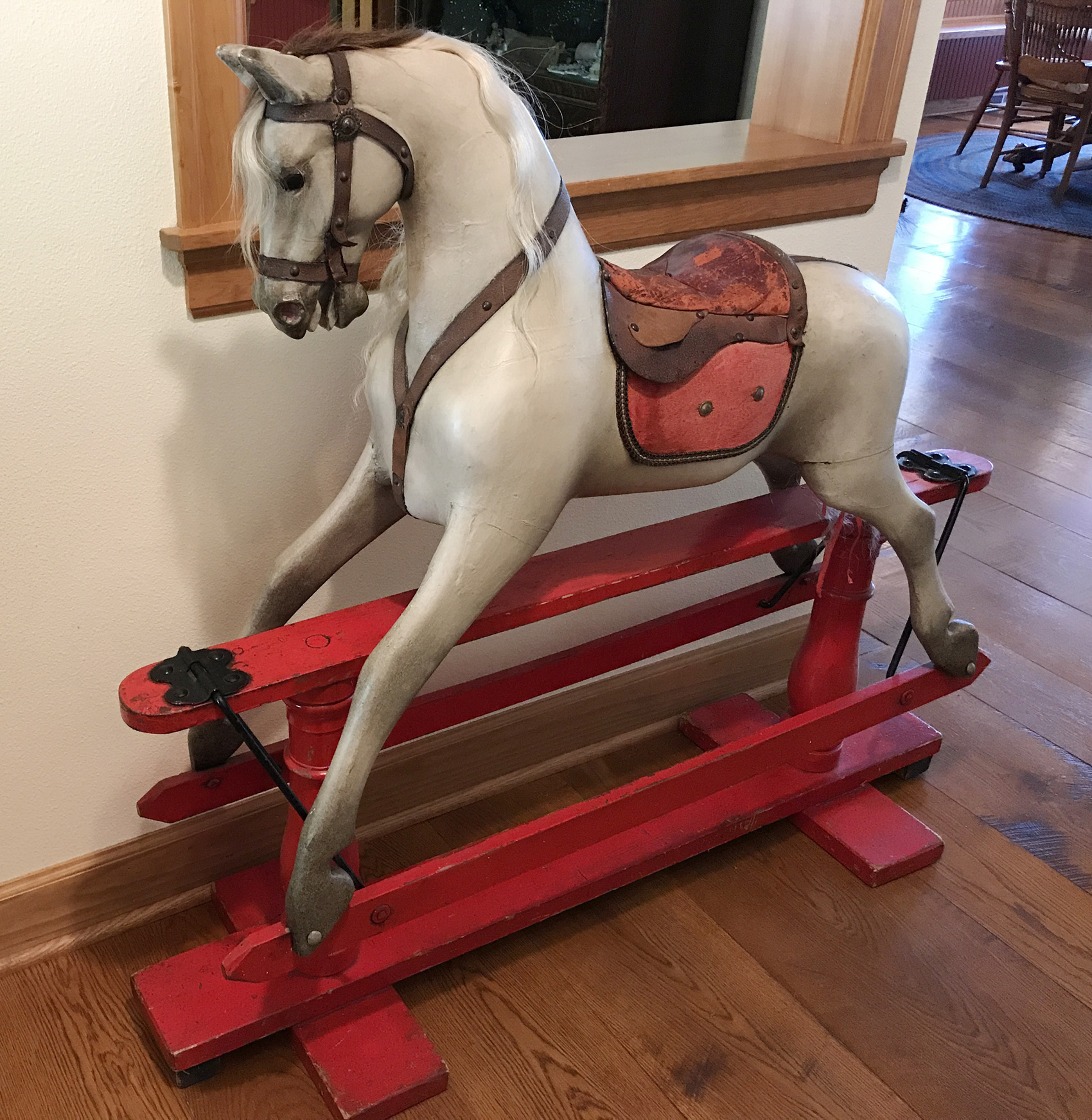English Ayers Rocking Horse Sold Antiquecarousels Com